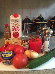 Gazpacho Soup Ingredients