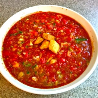 Ten Minute Gazpacho (Soup)