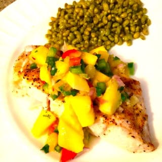 Red Snapper Fish with Mango Salsa