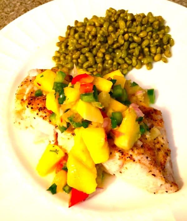 fish with mango salsa
