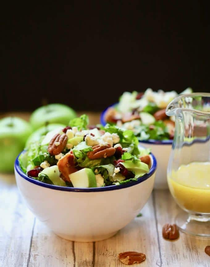 Amazing and Healthy Apple Pecan Chopped Salad ready to serve