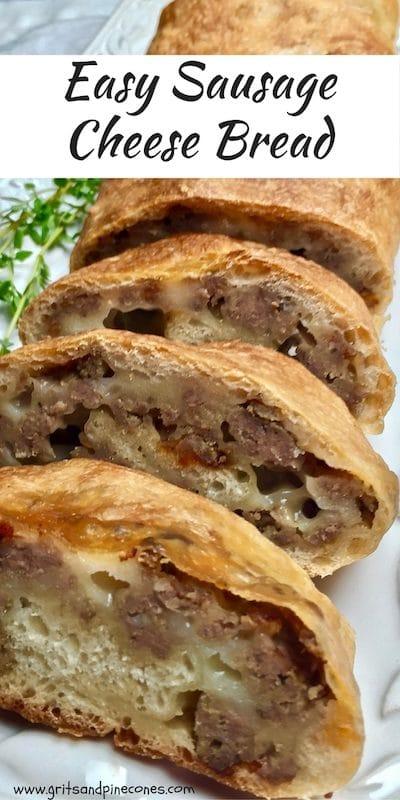 Breakfast Sausage Cheese Bread