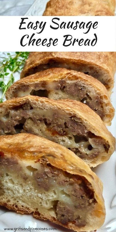 Easy Breakfast Sausage Cheese Bread is a great choice for a fabulous make-ahead Christmas breakfast or brunch. It can also be served as an appetizer or snack.