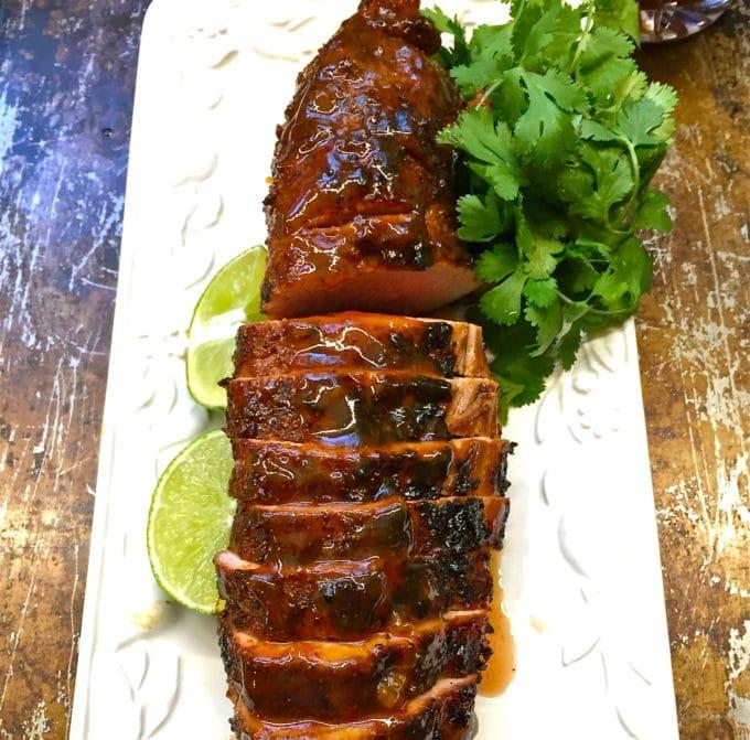 Chili Rubbed Pork Tenderloin ready right off the grill
