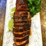 Chili Rubbed Pork Tenderloin hot off the grill
