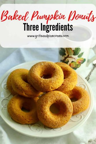 Pinterest pin for baked pumpkin donuts.