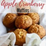 Easy Apple Cranberry Muffins pinterest pin