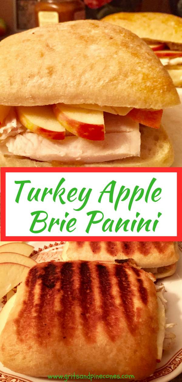 Ultimate Turkey Apple and Brie Panini is a quick, easy and delicious panini sandwich full of tender juicy turkey, creamy buttery melted brie cheese, crisp juicy apple slices, and sweet cinnamony apple butter on toasted ciabattarolls.