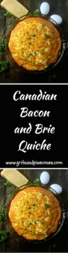 Canadian Bacon and Brie Quiche
