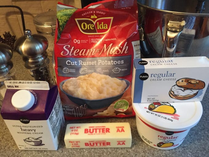Creamy Make Ahead Mashed Potatoes Ingredients