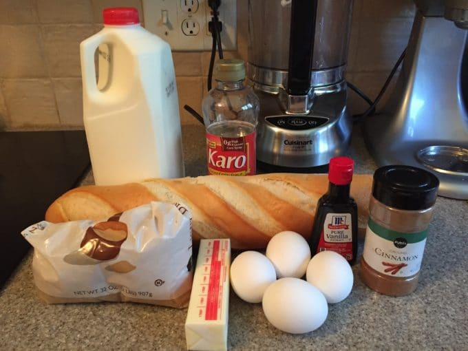 Oven Baked Caramel French Toast ingredients