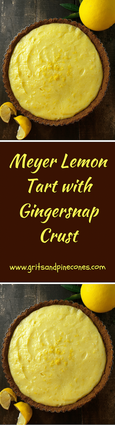 One bite of this luscious, Meyer Lemon Tart with its crunchy gingersnap crust will have your taste buds singing the Hallelujah chorus!