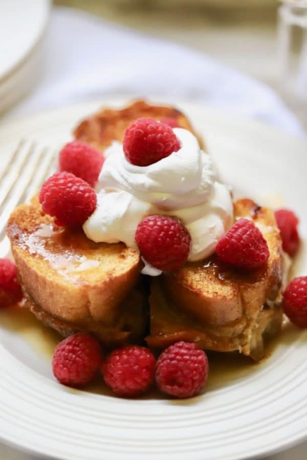 Decadent Oven Baked Carmel French Toast