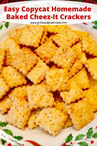 Pinterest pin for homemade cheez-it crackers.