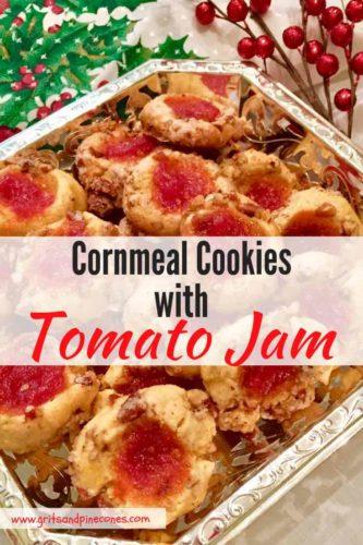Cornmeal Cookies with Tomato Jam Pinterest pin