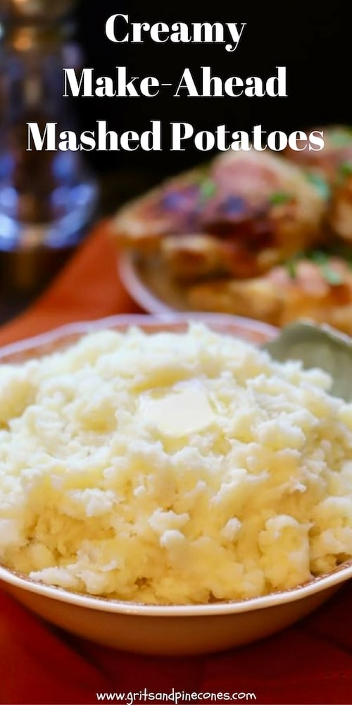 Check out this easy recipe for Creamy Make-Ahead Mashed Potatoes and find out how to make everyone's favorite side dish, homemade mashed potatoes in 15 minutes. #mashedpotatoes, #mashedpotatorecipes