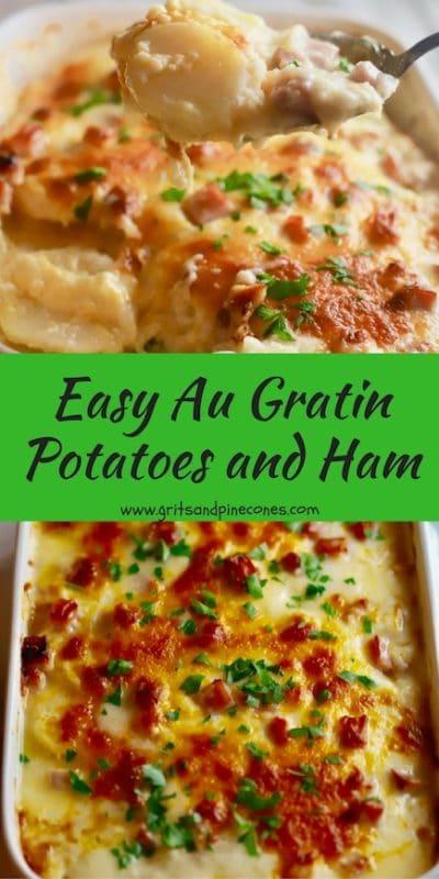 Easy Au Gratin Potatoes and Ham