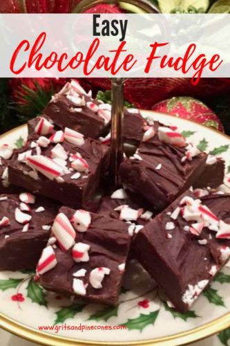 Easy Chocolate Fudge Pinterest pin