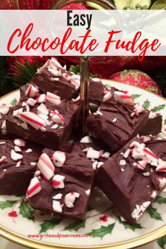 Easy Chocolate Fudge Pinterest pin