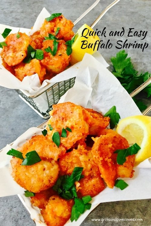 If you like shrimp and spicy foods, crispy Quick and Easy Buffalo Shrimp is for you! Perfect as a main dish or as an appetizer, it only takes minutes to prepare.