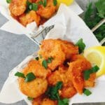 Quick and Easy Buffalo Shrimp ready to serve