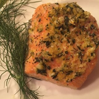 Slow Roasted Salmon with Lemon, Garlic, and Thyme