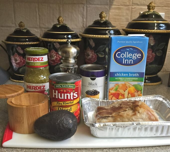 Quick and Easy Mexican Pork Stew ingredients