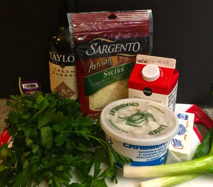 Easy Creamy Crab Mornay ingredients