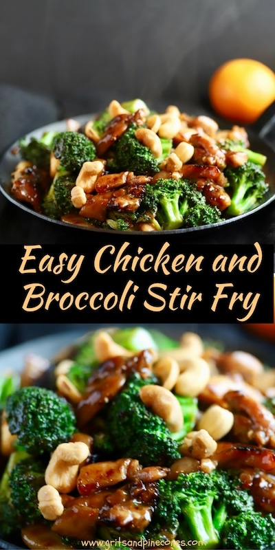 Healthy, low-calorie, and flavorful, Easy Chicken and Broccoli Stir Fry entrée is super easy to make, and you can have it on the table in less than 15 minutes!