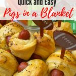Quick and Easy Pigs in a Blanket Pinterest pin