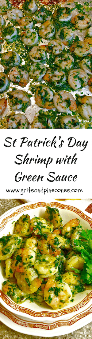 Ditch the green beer this year for St. Patrick's Day and try this quick, easy, healthy and delicious recipe for Shrimp with Green Sauce.