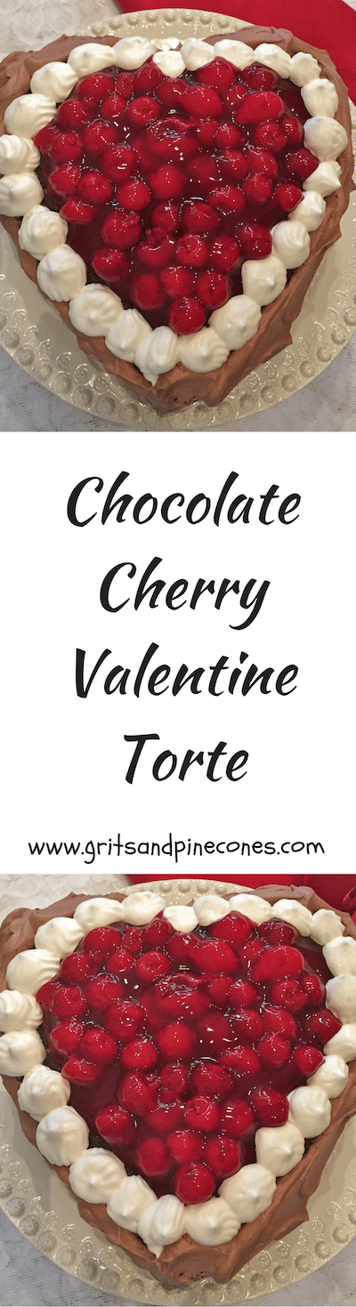 Chocolate Cherry Valentine's Day Torte is the perfect Valentine's Day dessert to say