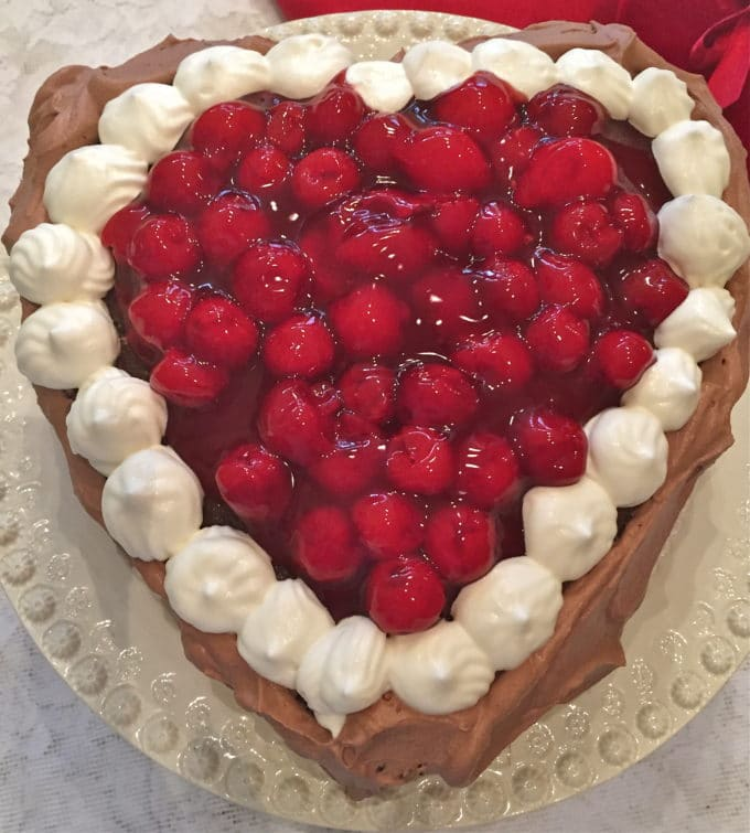 Chocolate Cherry Valentine Torte 1