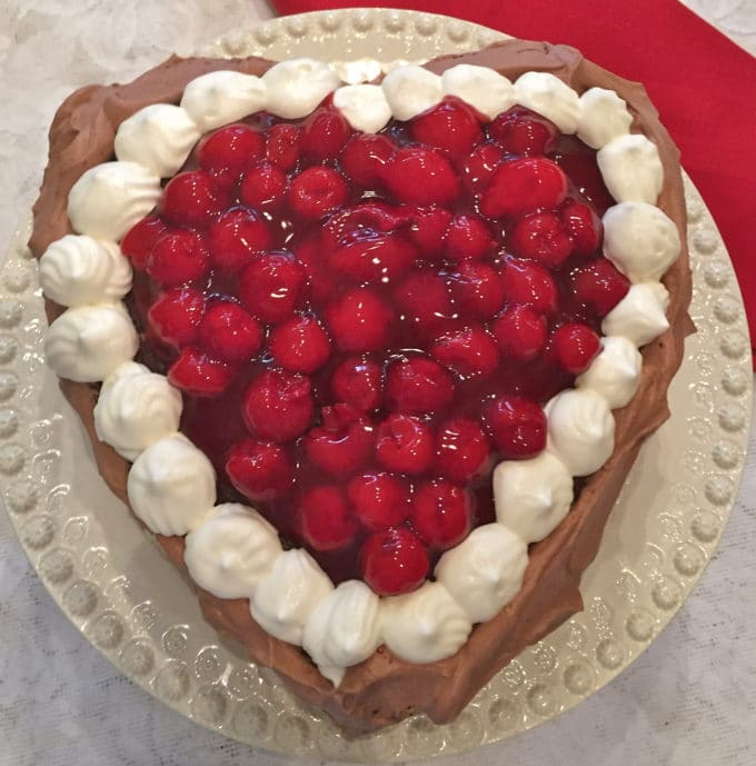 Chocolate Cherry Valentine Torte-2