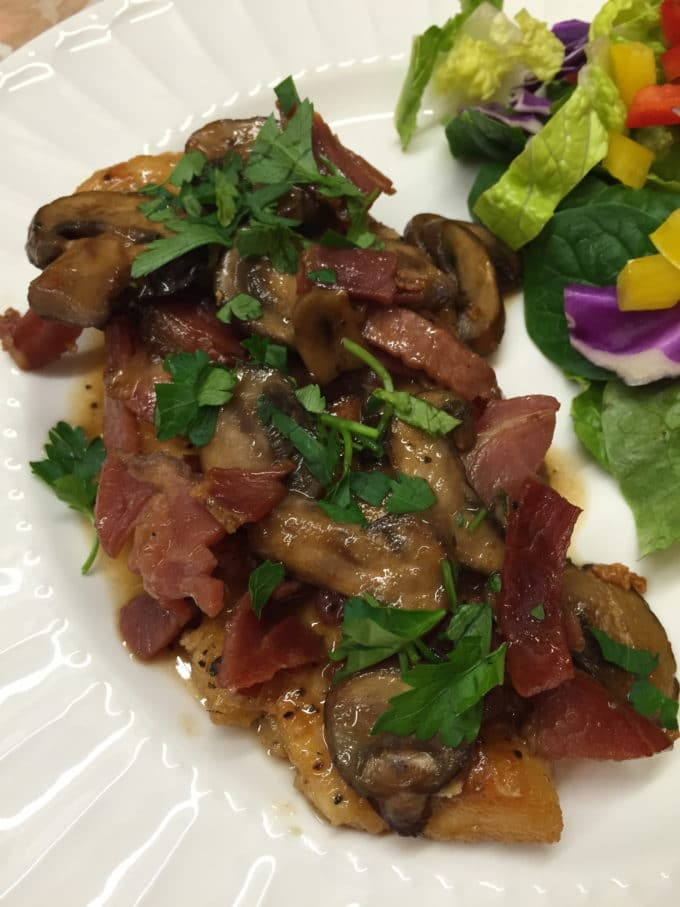 Easy Chicken Marsala with Proscuitto