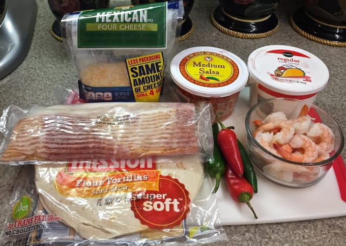 Shrimp and Bacon Quesadillas ingredients
