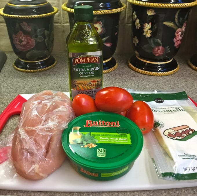 Quick and Easy Basil Pesto Chicken ingredients