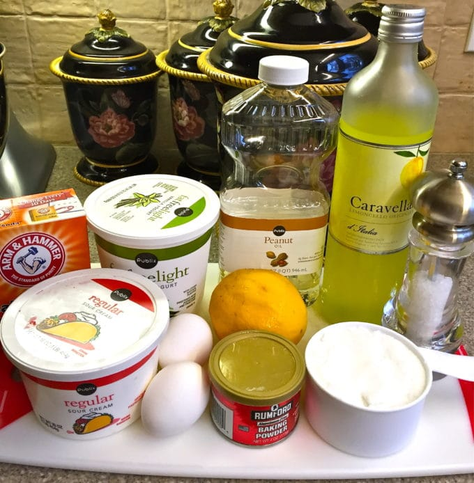 Southern Style Limoncello Cake ingredients