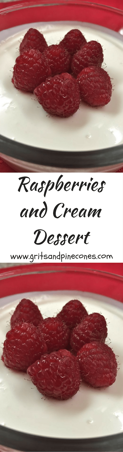 Sweeten your Valentines Day this year with a creamy and decadent, sweetly romantic Raspberries and Cream dessert. It's pure deliciousness!