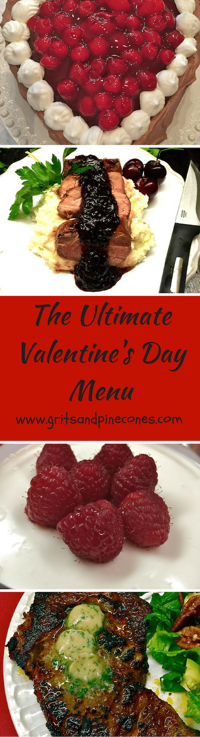 "The Ultimate Valentine's Day Dinner Menu is the perfect way to say, ""I love you!"" with quick and easy recipes for a romantic dinner at home for Valentine's Day."