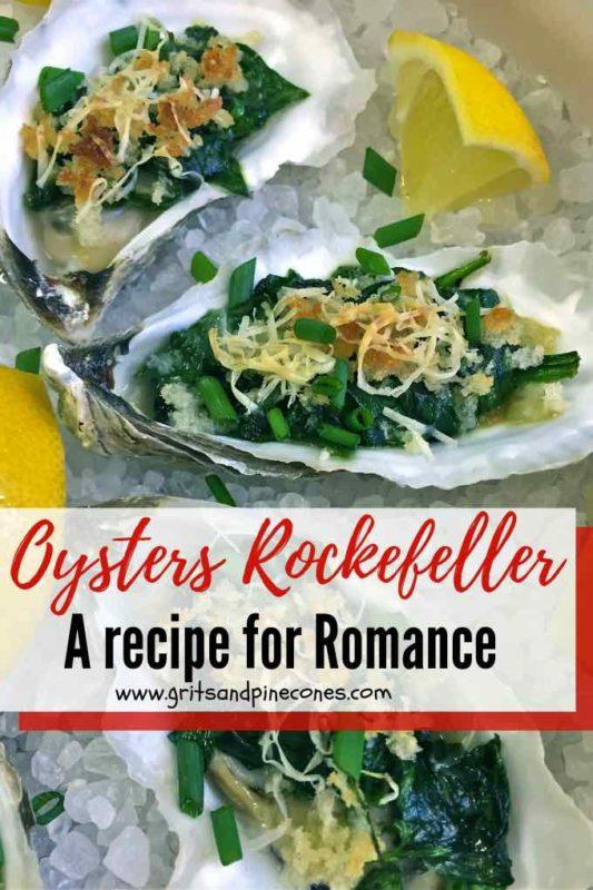 Oysters Rockefeller Pinterest Pin