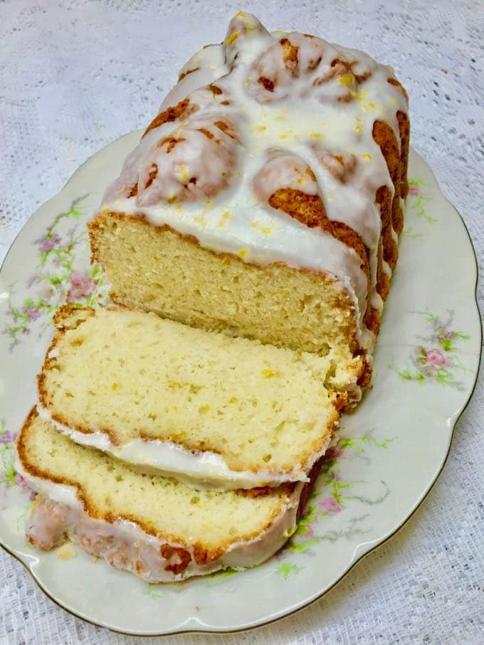 Southern Style Limoncello Cake Recipe sliced and ready to serve