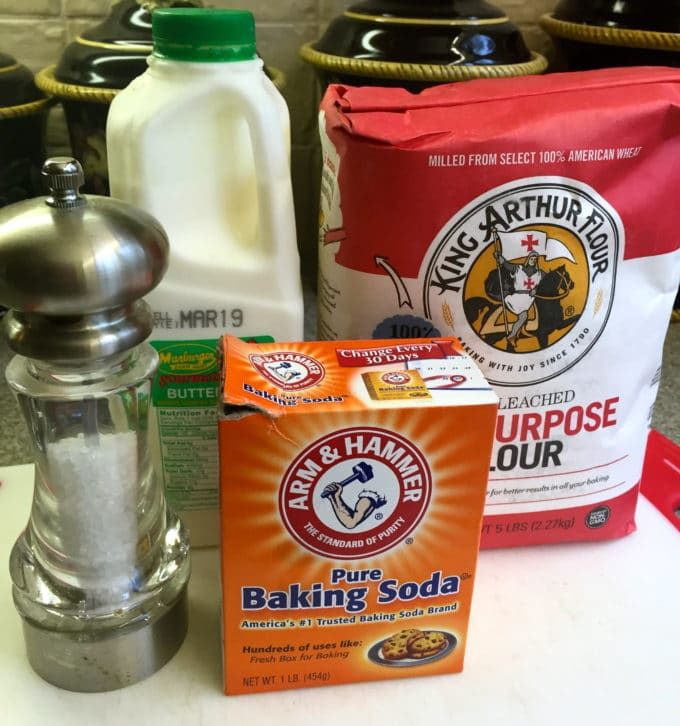 Ingredients for Traditional Irish Soda Bread