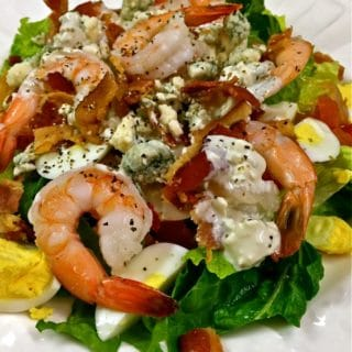 Shrimp Cobb Salad with Blue Cheese Dressing-1
