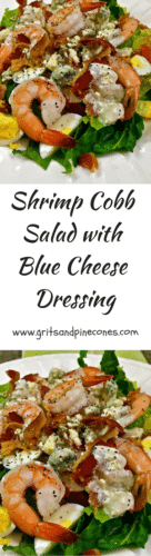 Shrimp Cobb Salad with Blue Cheese Dressing