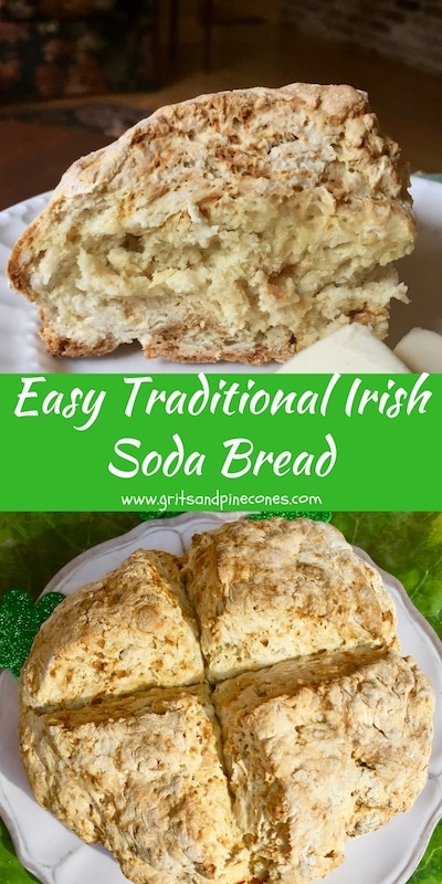 Celebrate St. Patrick's Day by serving Traditional Irish Soda Bread for dinner. This authentic bread recipe is so easy to make, you won't need to rely on the luck o' the Irish to pull it off.