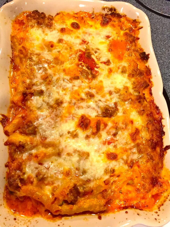 Easy Make Ahead Baked Ziti