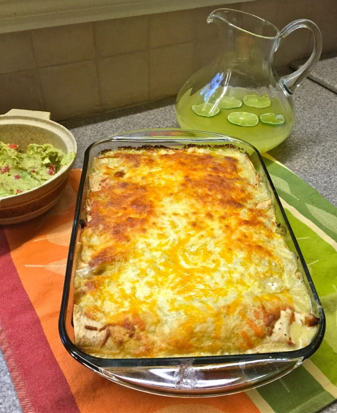 Tequila Lime Chicken Enchiladas-1