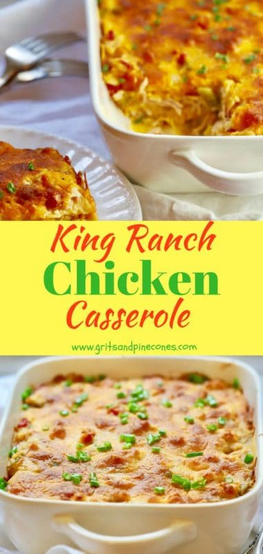 Classic King Ranch Chicken Pinterest pin