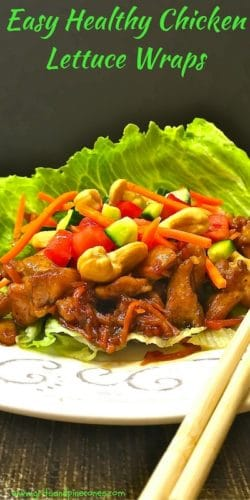Easy Healthy Chicken Lettuce Wraps Pinterest Pin